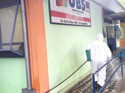 Lavagem sanitária contra à Covid-19 é implementada em Unidades Básicas de Saúde